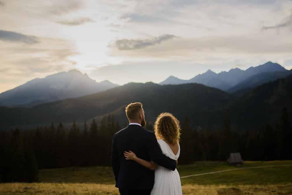plener ślubny, tatry, góry, para, wpatrzeni
